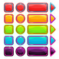 Colorful bright buttons set Royalty Free Stock Photo