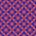 Colorful bright funky geometric seamless pattern. Retro 80-90`s fashion background.