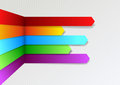 Colorful bright threedimensional infographics arro arrows clip art Stock Image