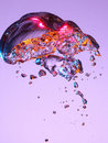 Colorful bubble in liquid Royalty Free Stock Photo