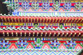 Colorful Buddhist Temple details