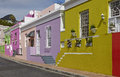 Colorful buildings in bo kaap malay quarter cape town western cape south africa Royalty Free Stock Images