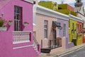 Colorful buildings in bo kaap malay quarter cape town western cape south africa Stock Photo