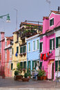 Colorful buildings in Burano island Stock Image