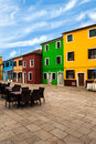 Colorful buildings in murano traditional architecture the burano island veneto italy Royalty Free Stock Image