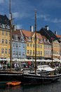 The Colorful Buildings of Nyhavn in Copenhagen Royalty Free Stock Photo