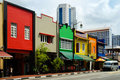 Colorful buildings in Singapore Royalty Free Stock Image