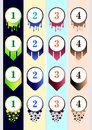 Colorful Bullet Collection Template for content business infographic content