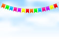 Colorful bunting Royalty Free Stock Photography