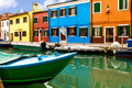 Colorful Burano Island Stock Photography