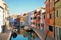 Colorful Burano island, Venice