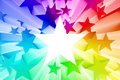 Colorful burst of stars d render Stock Image