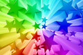 Colorful burst of stars d render Royalty Free Stock Images