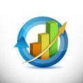 Colorful business arrow cycle graph illustration design over white Royalty Free Stock Image