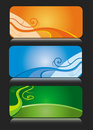 Colorful business card themes Stock Images