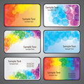 Colorful Business Card Vectors Royalty Free Stock Photo
