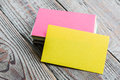 Colorful Business cards Royalty Free Stock Photo