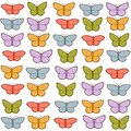 Colorful butterflies pattern Royalty Free Stock Photos