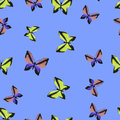 Colorful Butterflies Seamless Summer Pattern