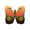 Colorful butterfly with abstract decorative pattern summer free fly present silhouette and beauty nature spring insect