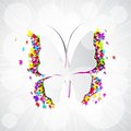 Colorful butterfly easy to edit vector illustration of paper Stock Image