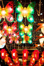Colorful butterfly lantern lanterns on chinese new years Royalty Free Stock Photography