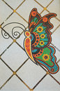 Colorful butterfly mosaic