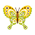 Colorful butterfly with open wings vector Illustration