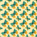 Colorful butterfly seamless pattern vector illustration.