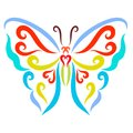 Colorful butterfly with spread wings Royalty Free Stock Photo