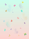 Colorful Butterfly summer splash beautiful wallpaper. Layered vector illustration.