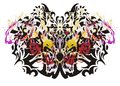 Colorful butterfly tattoo Royalty Free Stock Photo