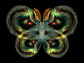 Colorful butterfly unreal series abstract element on the subject of imagination nature and design Stock Image