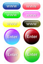Colorful button for all website Stock Photography