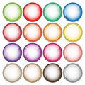 Colorful button collection Royalty Free Stock Photos