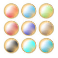 Colorful button collection Royalty Free Stock Photography