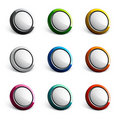 Colorful button icons Royalty Free Stock Image
