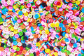 Colorful buttons colorful clasper close up Royalty Free Stock Images