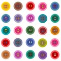 Colorful buttons seamless pattern vector eps graphic illustration Royalty Free Stock Images