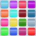 Colorful buttons set a of vector Stock Photography