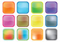 Colorful buttons - vector Stock Image