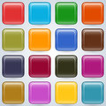 Colorful buttons vector set a of Royalty Free Stock Photo