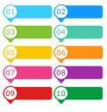Colorful buttons for website menu or design Stock Image