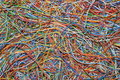 stock image of  Colorful cable puzzle