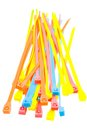 Colorful cable ties Stock Image