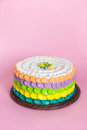 Colorful cake for kids party Royalty Free Stock Photo