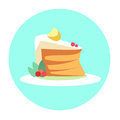 Colorful Cake Piece Sweet Dessert Food Icon Royalty Free Stock Photo