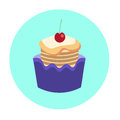Colorful Cake Sweet Dessert Food Icon Royalty Free Stock Photo