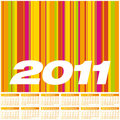 Colorful Calendar 2011. Royalty Free Stock Photography