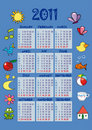 Colorful calendar 2011 Royalty Free Stock Photography